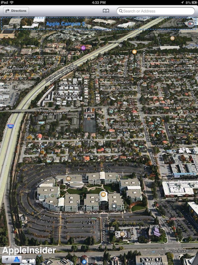 1 infinite loop apple hq flyover apple new office
