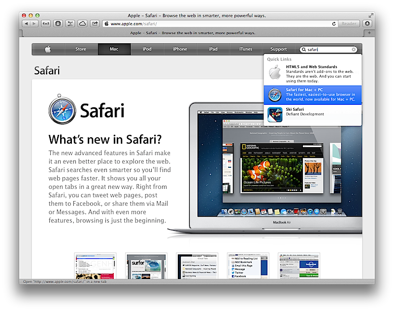 Apple apparently kills Windows PC support in Safari 6.0