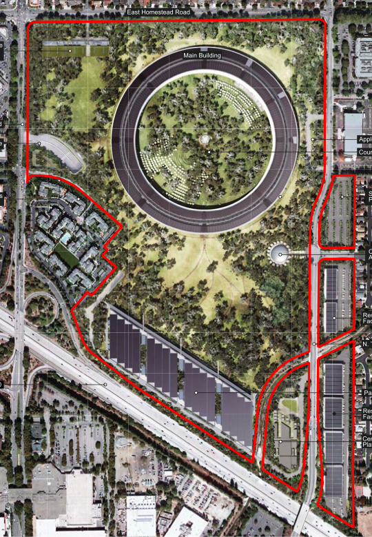 Apple provides additional details renderings for for Sede apple cupertino