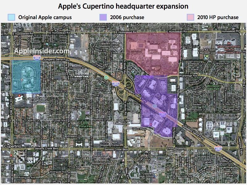 apple land cupertino apple new office