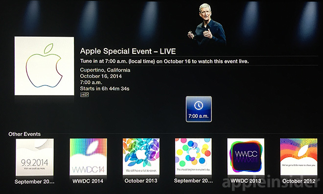 'Apple Events' channel for Apple TV goes live ahead of ...