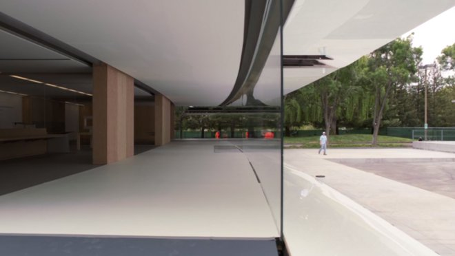 one of the life size mockups apple used in the design of its new campus apple new office design