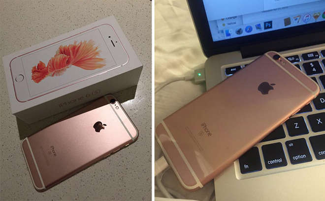 customer receives rose gold iphone 6s days before launch. Black Bedroom Furniture Sets. Home Design Ideas