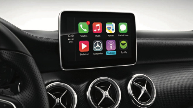 mercedes confirms apple 39 s carplay headed to select models. Black Bedroom Furniture Sets. Home Design Ideas