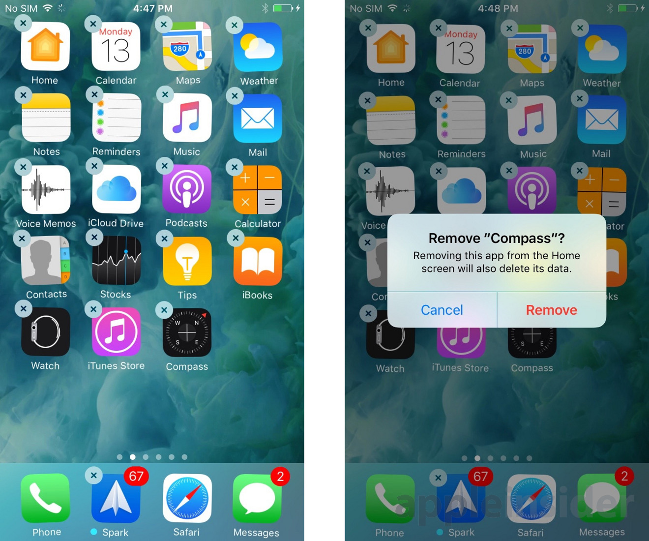 ios 10 will allow deleting first party apps cluttering homescreens. Black Bedroom Furniture Sets. Home Design Ideas
