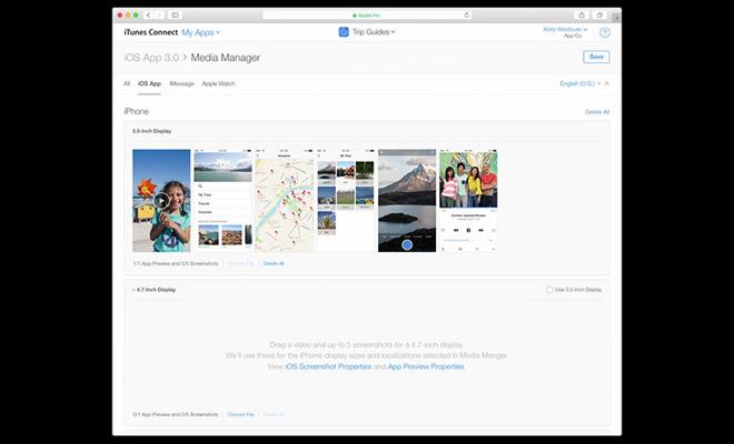 apple unveils streamlined itunes connect screenshot upload. Black Bedroom Furniture Sets. Home Design Ideas