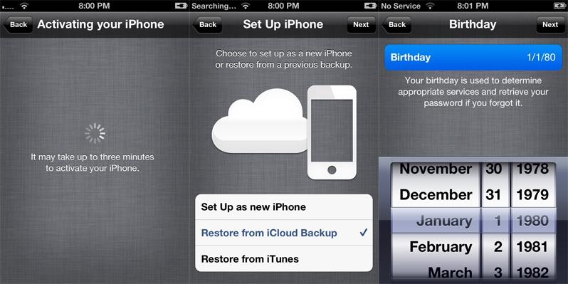 how to set up your new iphone 5s without wifi