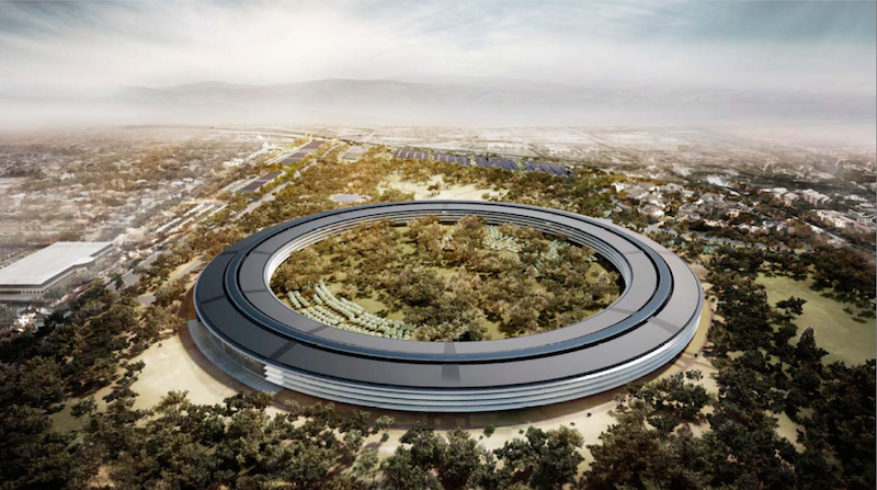 Apple headquarters 2.0 rendering